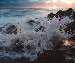 beach, landscapes, and water image