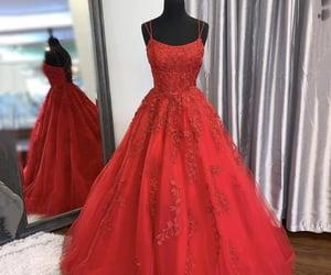 dress, evening dress, and lace dress image