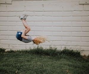 backflip, flip, and gymnast image