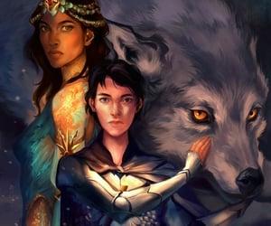 art, house stark, and arya stark image
