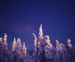 finland, night, and winter image