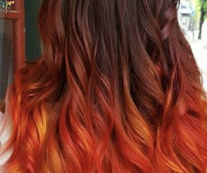 dyed hair, orange hair, and autumn look image