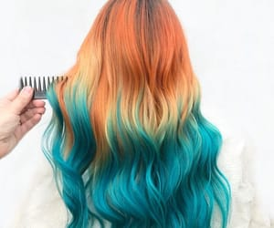dyed hair, orange hair, and hairstyle image