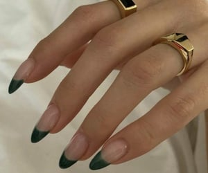 green, jewelry, and nails image