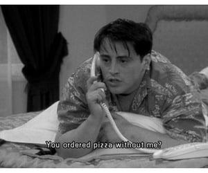 black and white, joey tribbiani, and phone call image