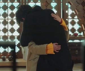 couple, hug, and goblin image