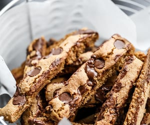 Low fat chocolate chip cookie sticks - Nom-Food!