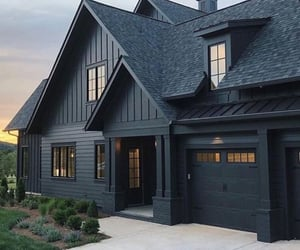 home, house, and black image
