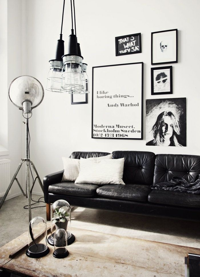 black, living room, and style image