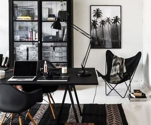 black, boho, and interior design image
