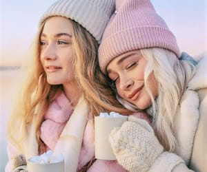 beanie, friendships, and winter wonderland image