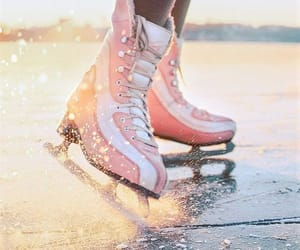 aesthetic, ice skating, and moments image