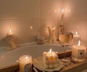 candle and bathroom image