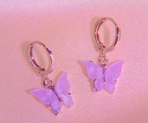 aesthetic, earrings, and butterfly image