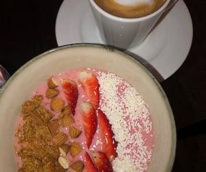 banana, bowl, and smoothie image