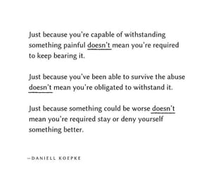 just because, doesn't mean, and keep bearing it image