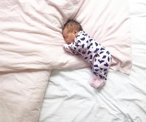 baby, sleepy, and tiny baby image