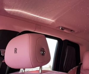 pink, rolls royce, and car image