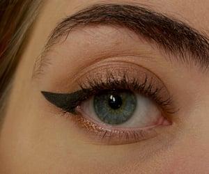 blue eye, eye, and eyeliner image