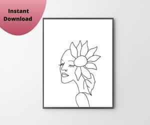cheap art, digital art, and bedroom art image