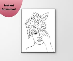 art prints, simple line art, and etsy image