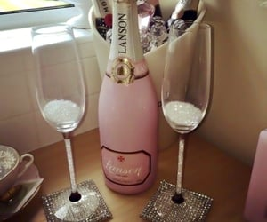 champagne, crystals, and diamonds image