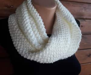 scarfs, winter scarf, and beige scarf image