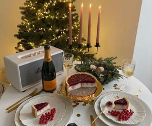 blogger, candle, and champagne image