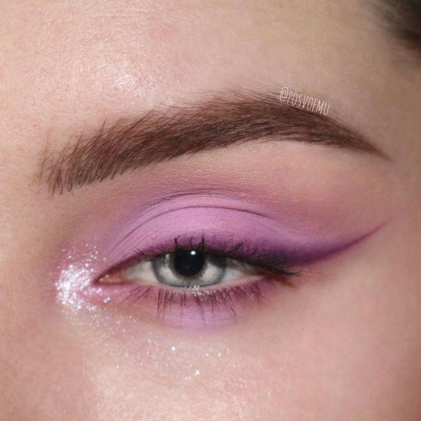 makeup, eyeshadow, and purple image