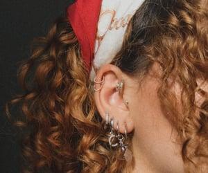 earrings, helix, and hoops image