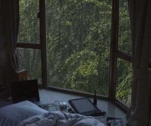 calm, room, and rain image