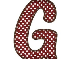 dots, g, and red image