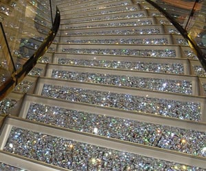 stairs, glitter, and luxury image
