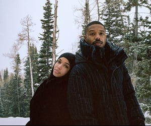 couple, michael b jordan, and lori harvey image
