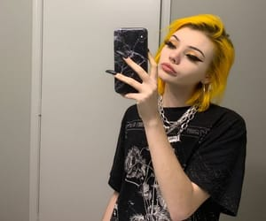 hairstyle, yellow hair, and colorful hair image