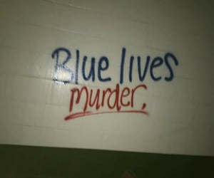 blue, cops, and protest image