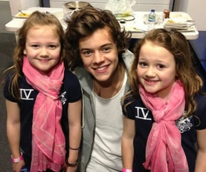 kids, scarves, and pink image