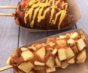 corn dog, food, and foods image