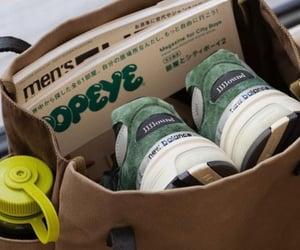 bag, green, and magazines image