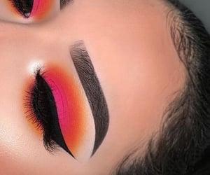 eye makeup, makeup, and pink image