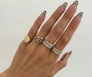 nails, chic, and rings image