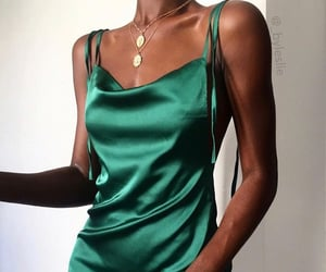 chic, dress, and green image