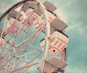 pink, vintage, and ferris wheel image
