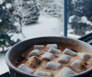 snow, winter, and marshmallow image