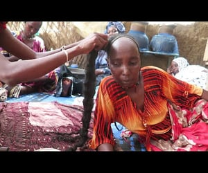 africa, black hair, and video image