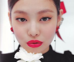 aesthetic, korea, and red image