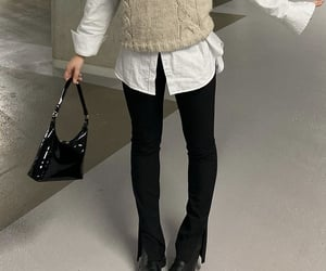 black boots, white button up, and everyday look image