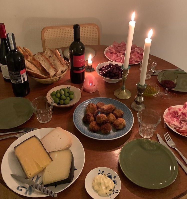 bread, candles, and cheese image