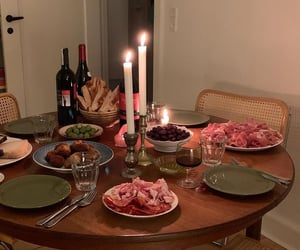 bread, candles, and dining image