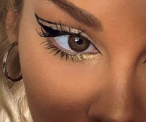 cat eye, eye, and eyeliner image